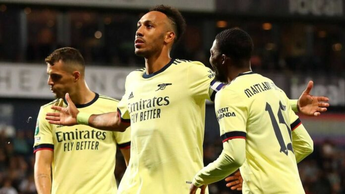 Aubameyang's Hat-trick Helped Arsenal Win 0-6 over West Brom